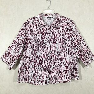 Apt. 9 Button Down 3/4 Sleeve Blouse Top
